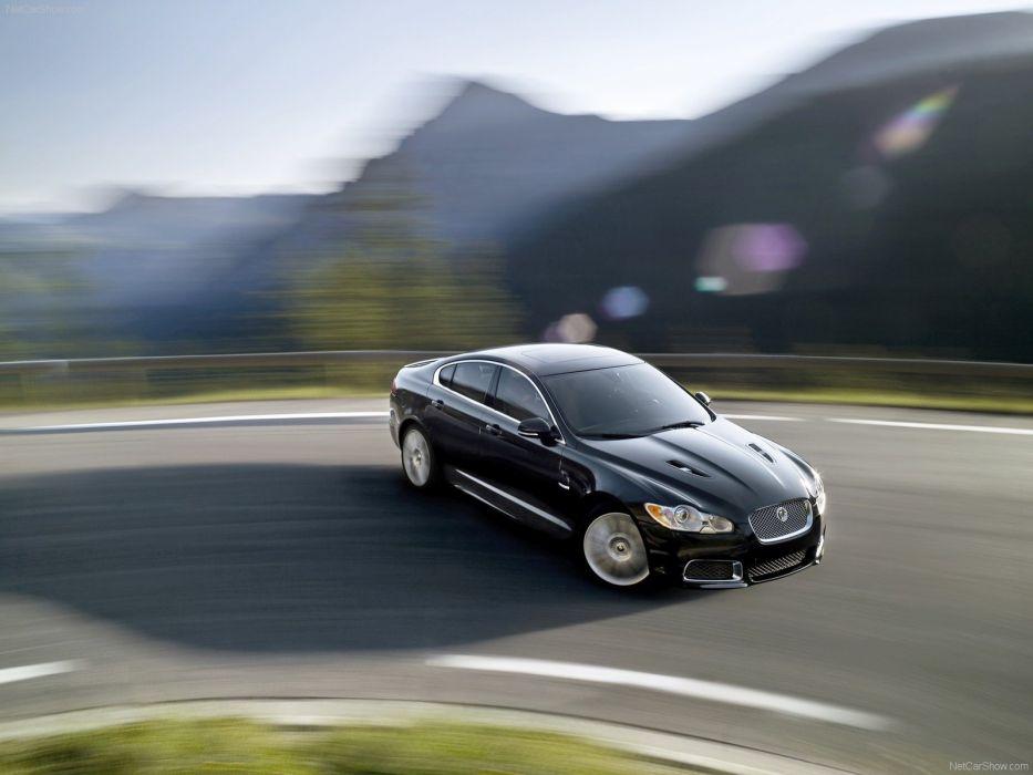 black cars Jaguar XFR wallpaper