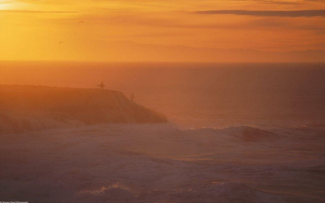 sunrise winter California Santa Cruz wallpaper