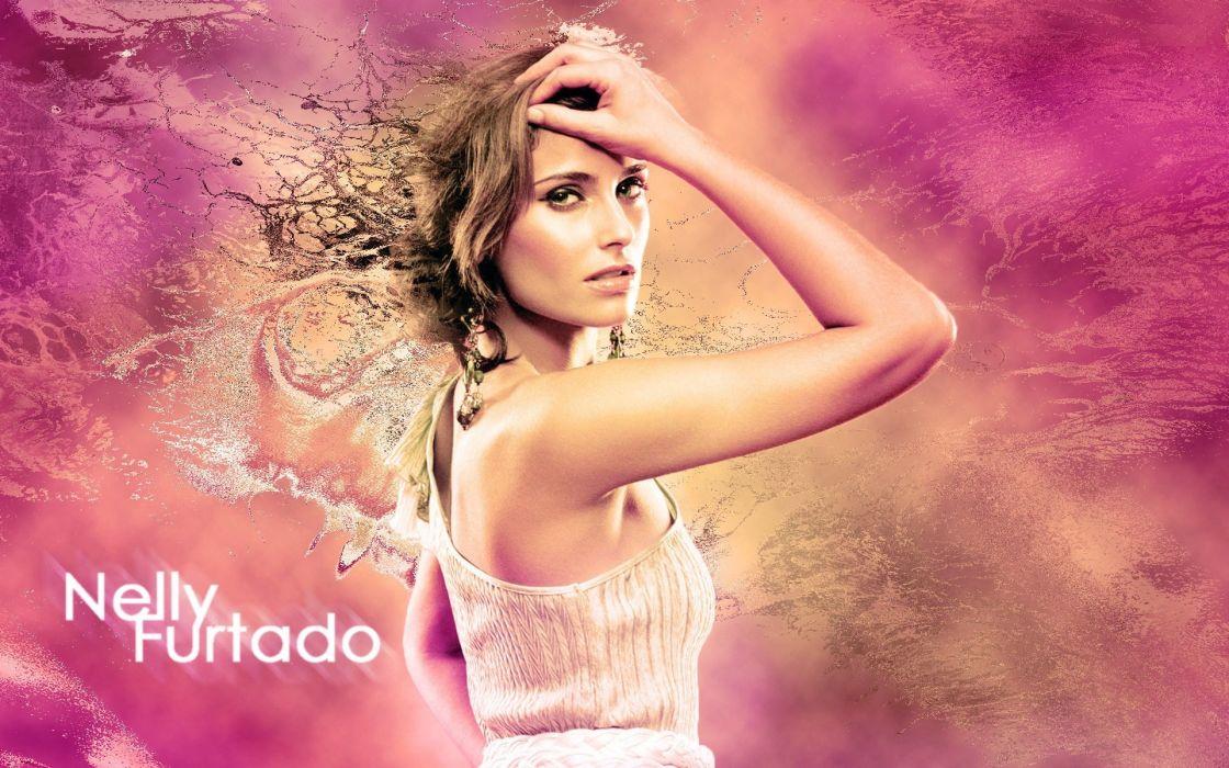 NELLY FURTADO folk r-b latin hip hop dance pop world babe brunette singer (21) wallpaper