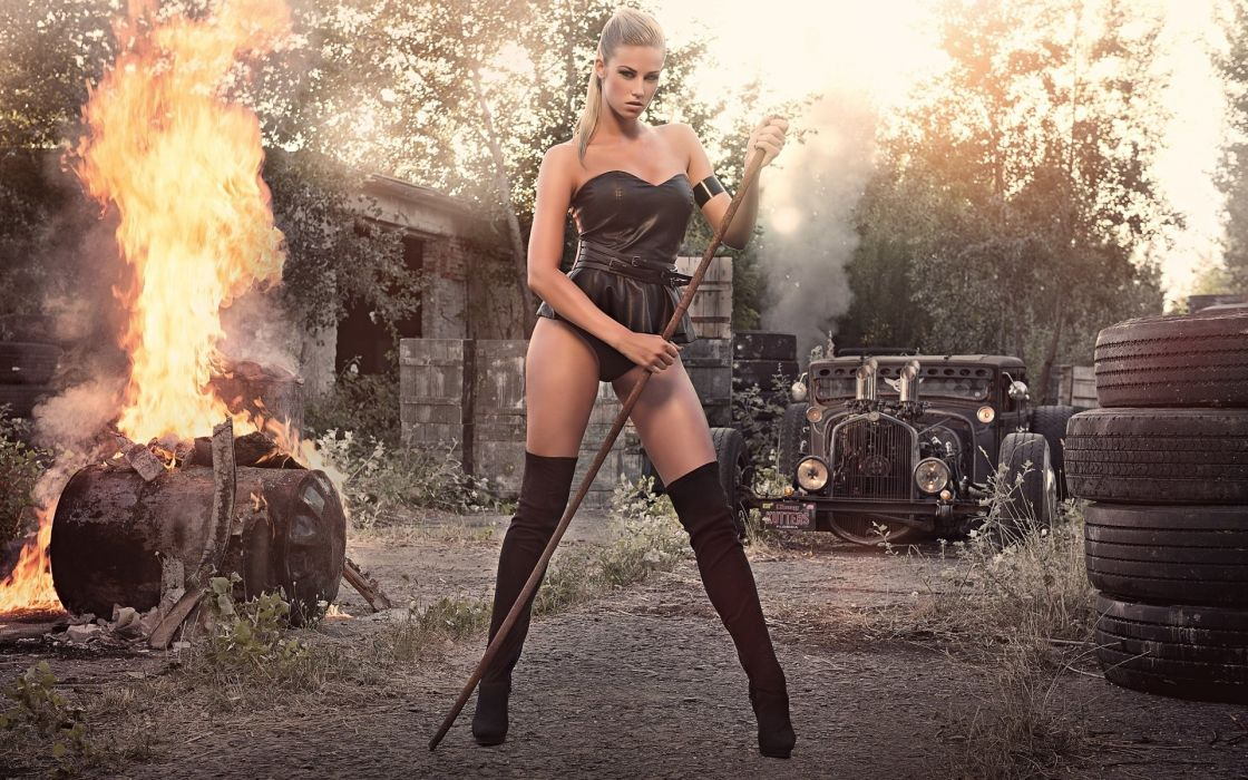2014 miss tuning leonie hagmeyer-reyinger blonde sexy babe      r wallpaper