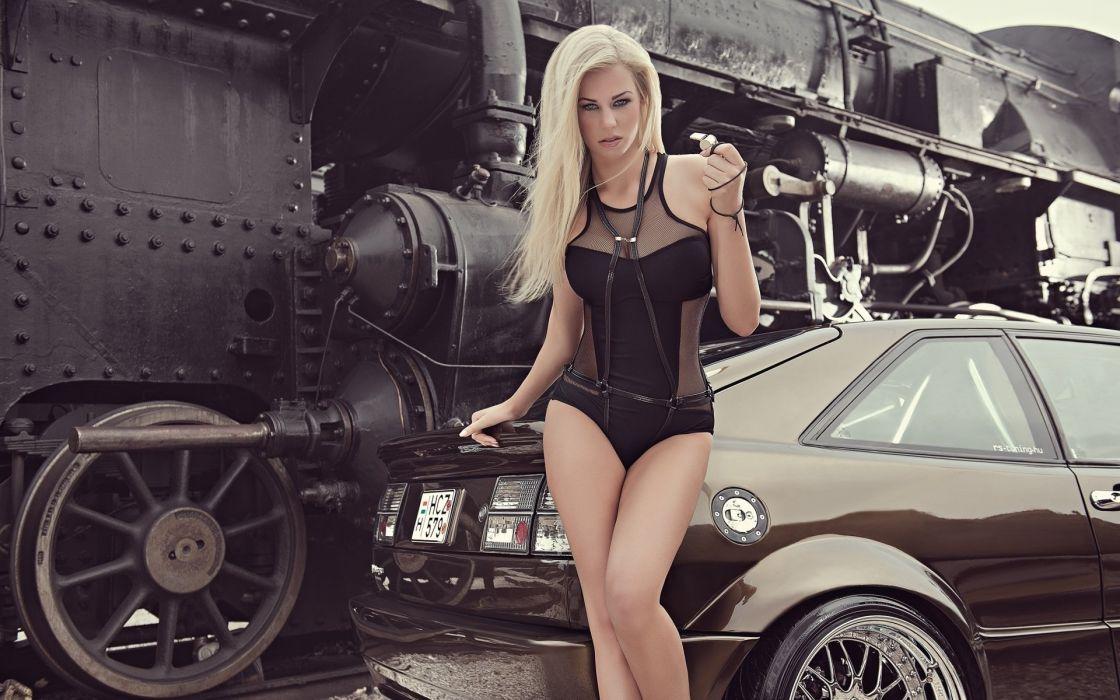 2014 miss tuning leonie hagmeyer-reyinger blonde sexy babe wallpaper