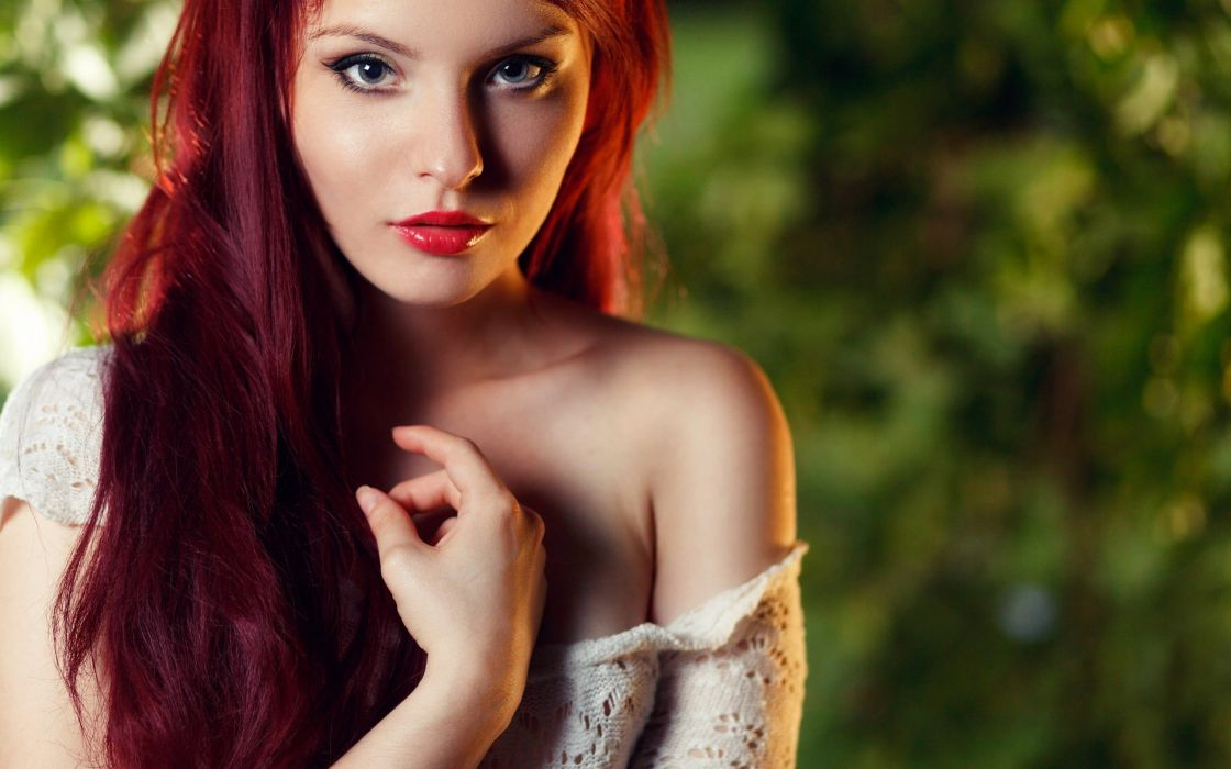 face red hair girl marta misiak redhead babe mood wallpaper