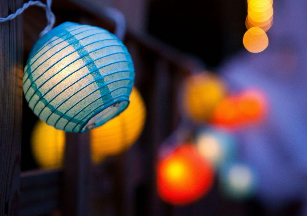 lantern light mood flashlight bokeh wallpaper