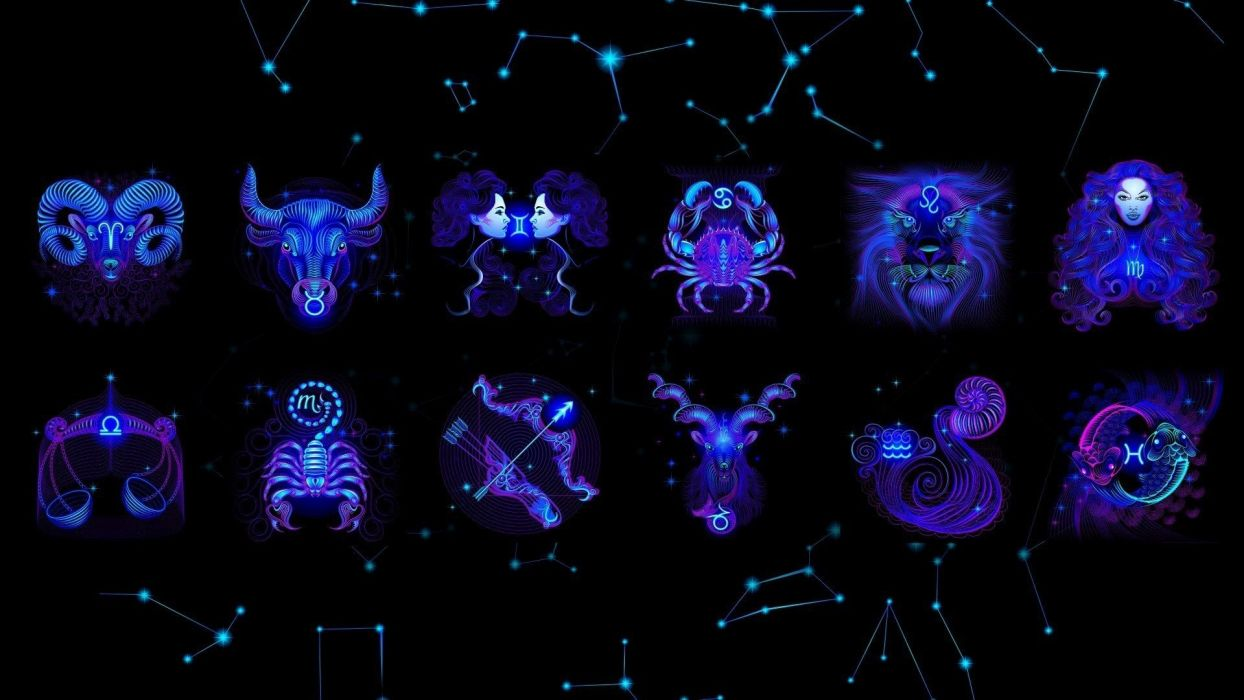 zodiac black fantasy space stars religion sign wallpaper