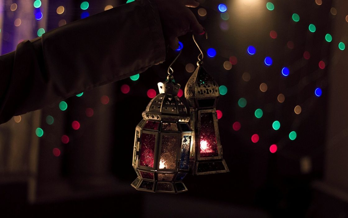 light lantern bokeh christmas wallpaper