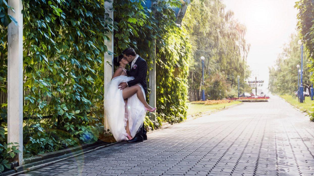bride passion groom wedding mood love sexy babe wallpaper