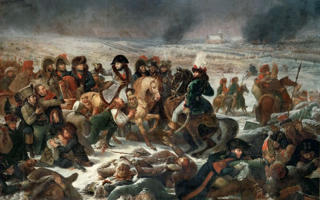 Gros Antoine-Jean Napoleon at the Battle of Eylau 9 February 1807 painting battle wallpaper