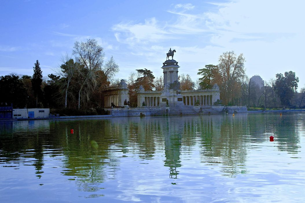 Buen Retiro Park MADRID landscape wallpaper