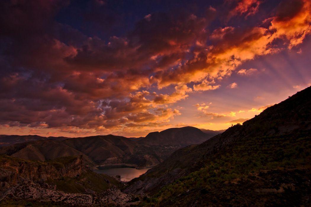 mountains California wallpaper