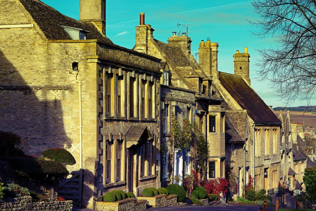 England Houses Burford Oxfordshire Street Cities wallpaper