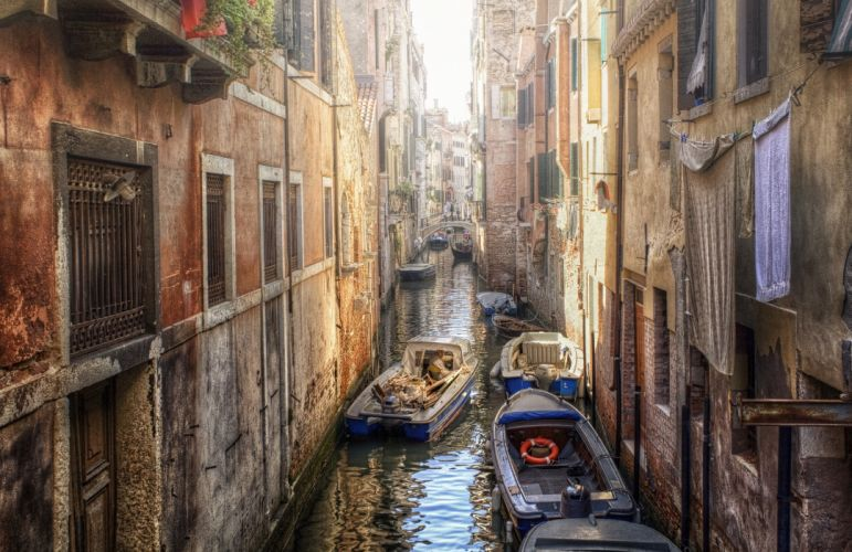 house canal venice boat wallpaper