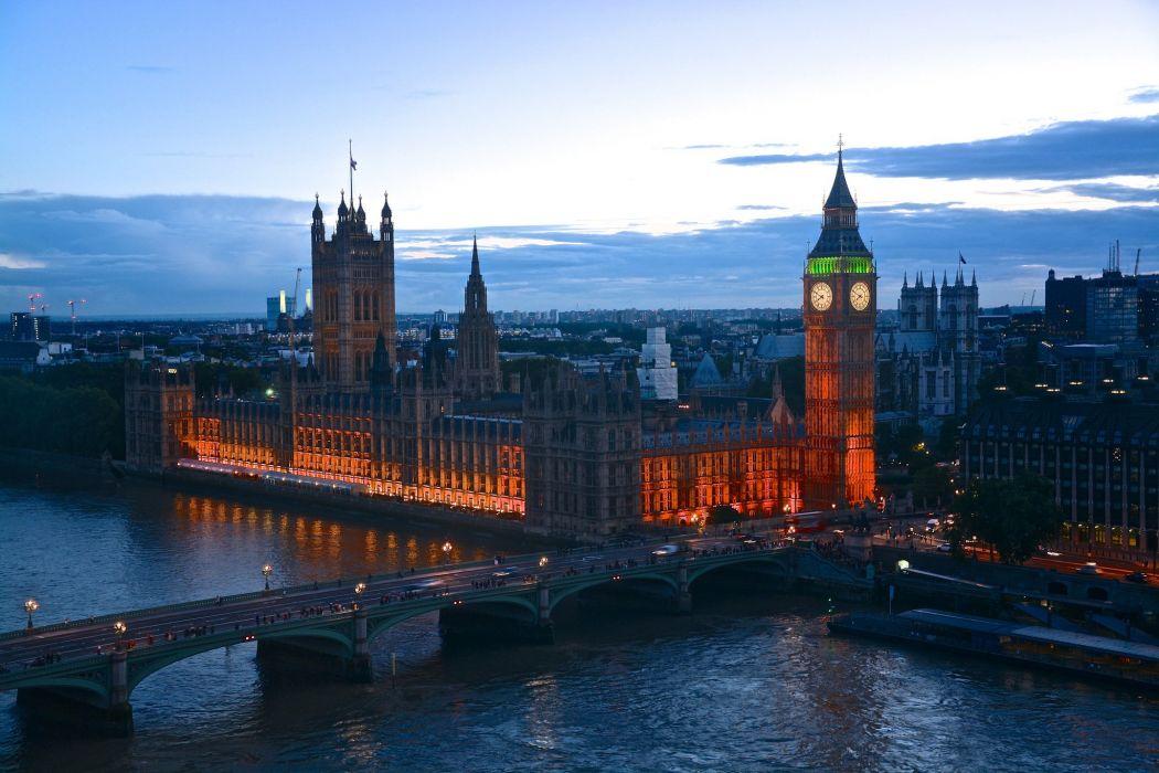 london england lights dusk evening wallpaper