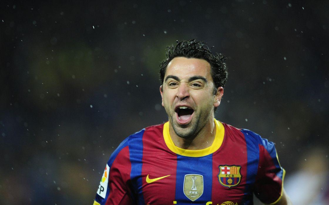 sports soccer FC Barcelona Xavi Hernandez wallpaper