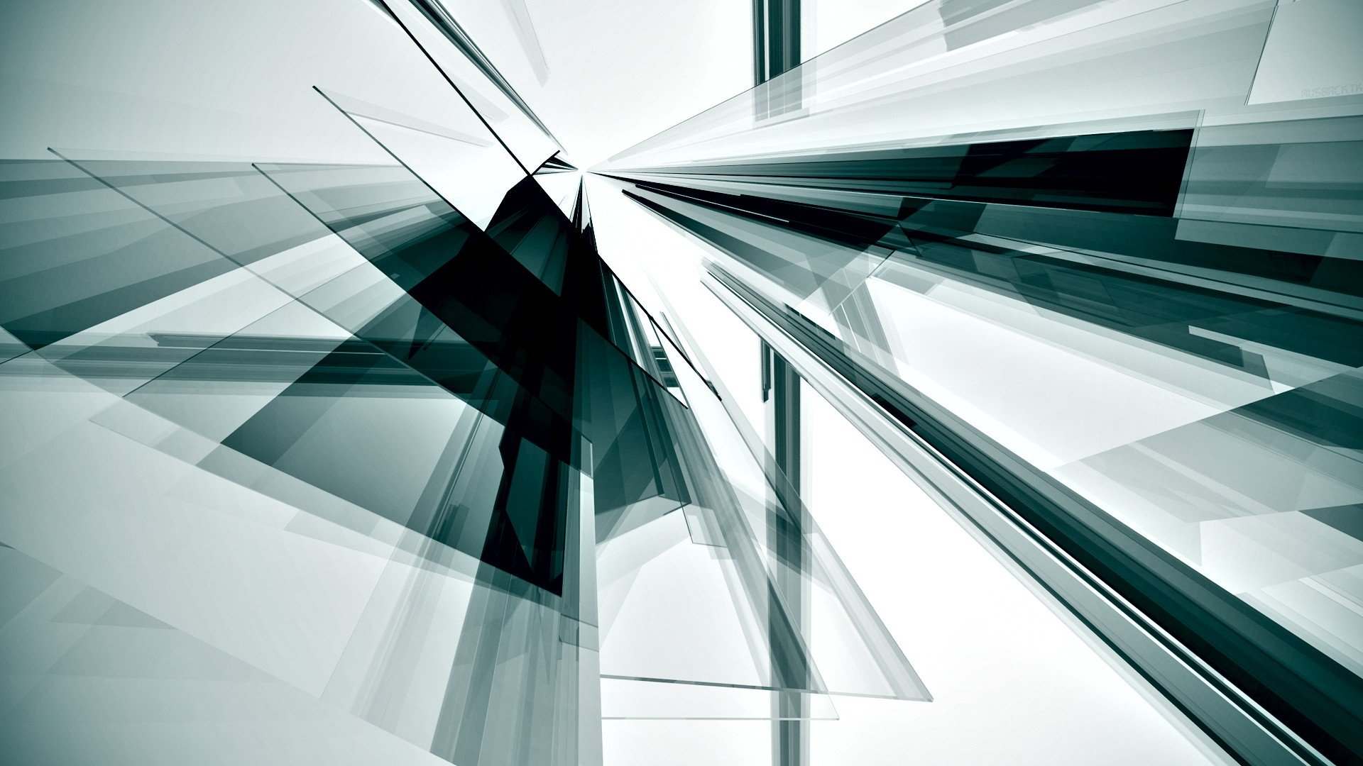 Abstract minimalistic silver digital art 3d renders photo for Black and silver 3d wallpaper