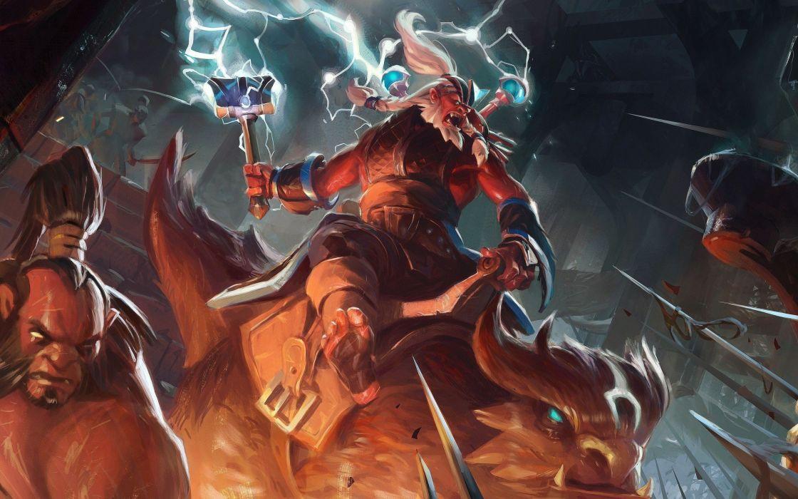 fantasy art DotA 2 Disruptor axe wallpaper