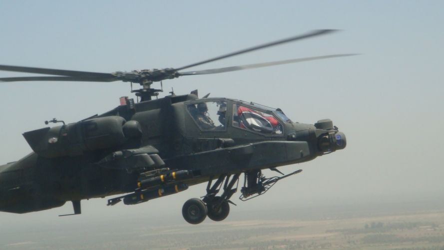 aircraft helicopters vehicles AH-64 Apache wallpaper