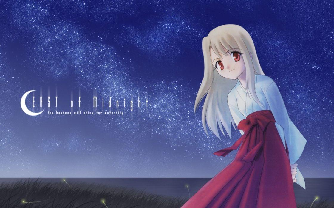 Fate/Stay Night Miko Fate series Illyasviel von Einzbern wallpaper
