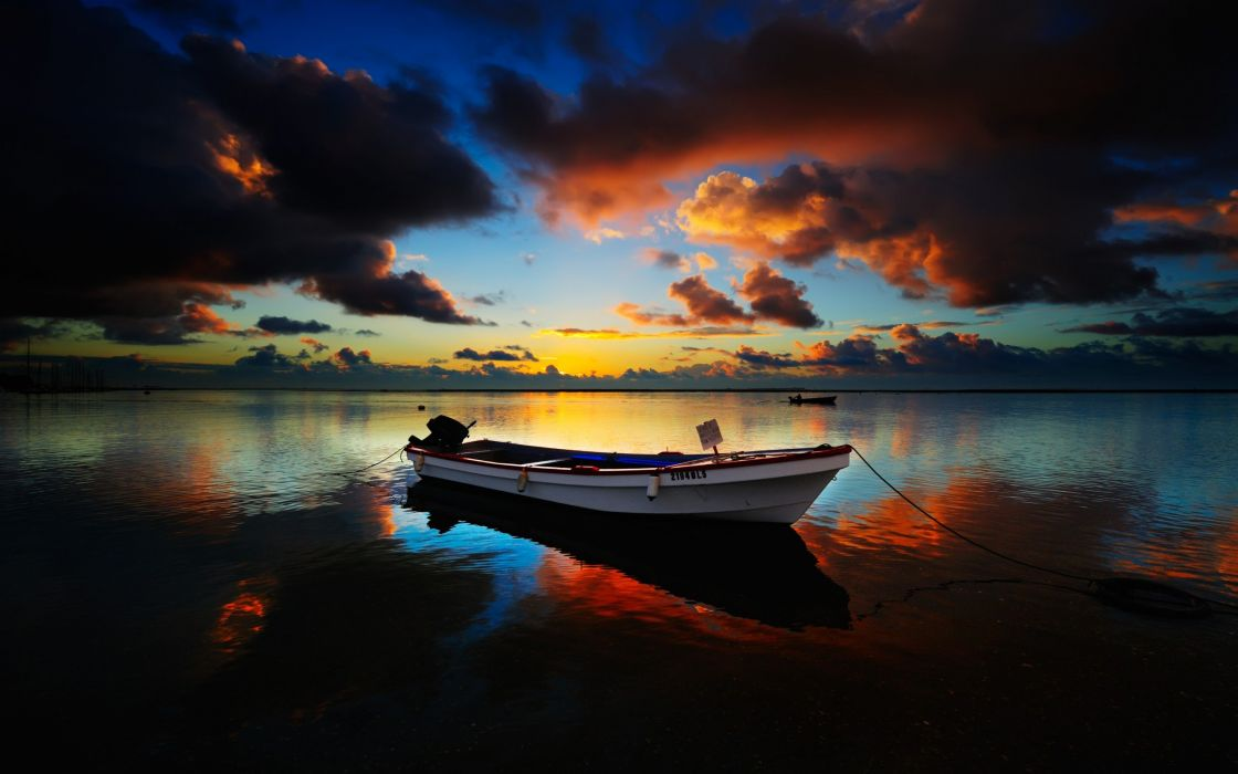 water sunrise nature ships boats sea wallpaper