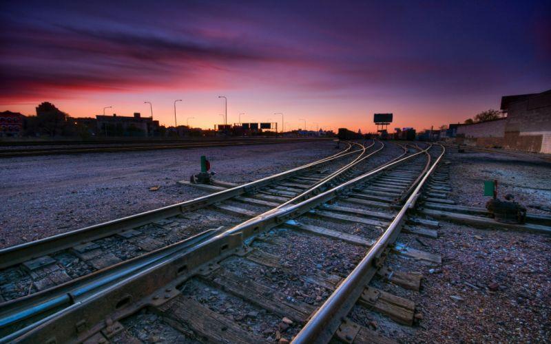 railroad tracks railway tracks wallpaper