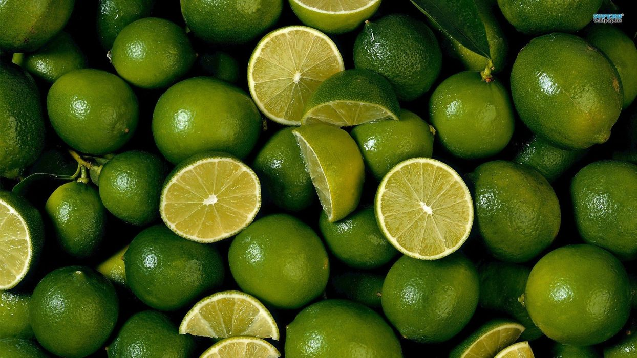 green fruits limes green lemons wallpaper