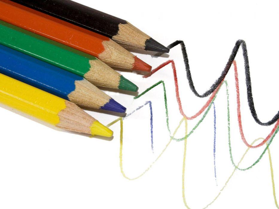 pencils colors wallpaper