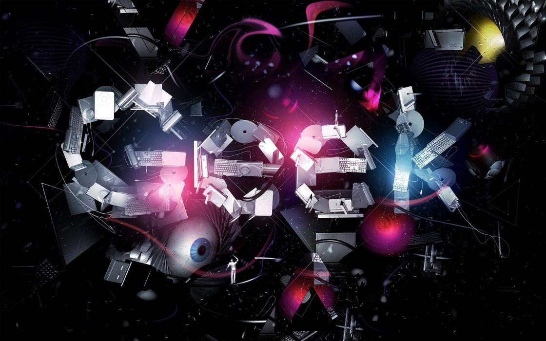 eyes geek wrong typography technology code digital art wallpaper
