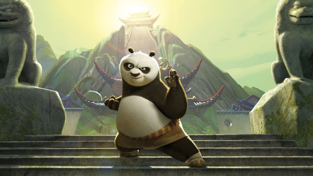cartoons movies Jack Black kung fu panda 2 wallpaper