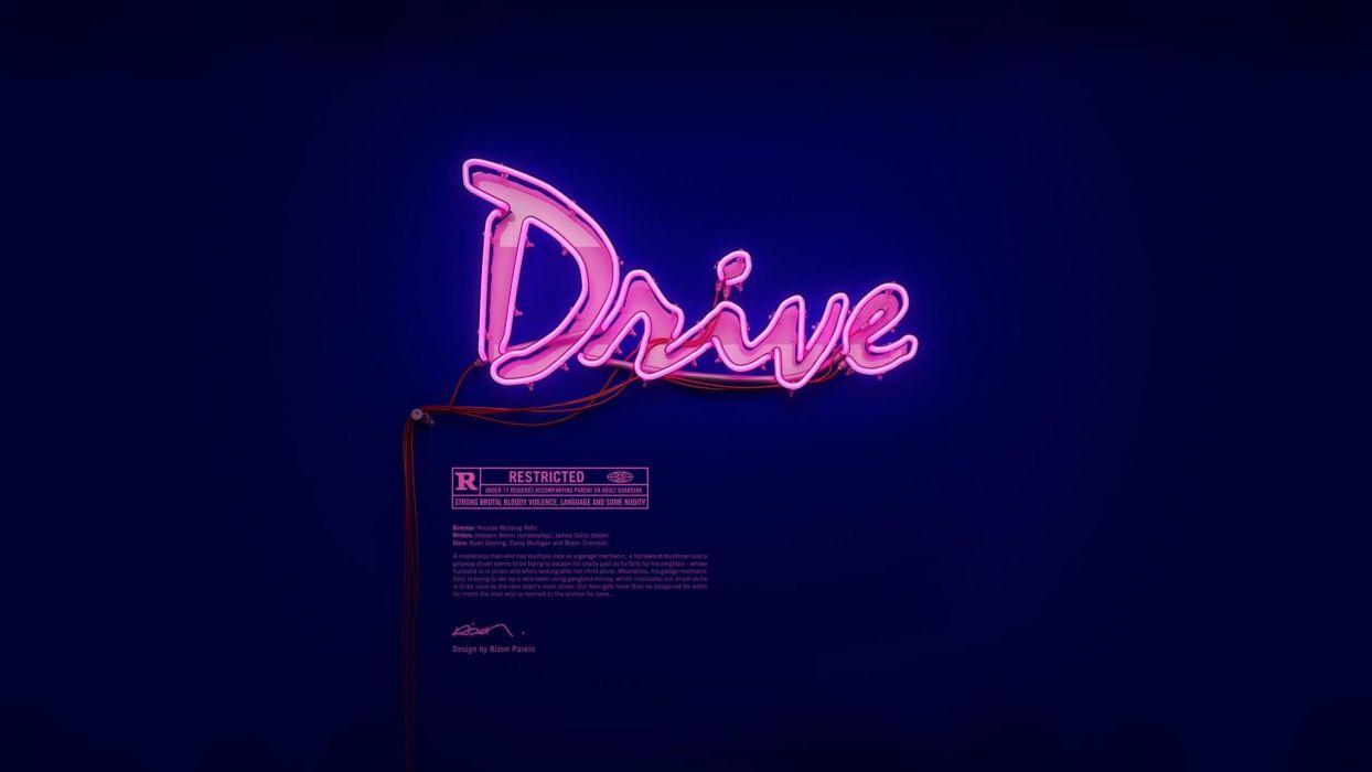 movies drive Drive (movie) neon wallpaper