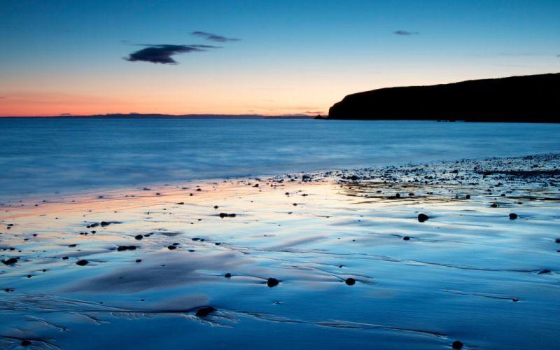 sunset landscapes beaches wallpaper