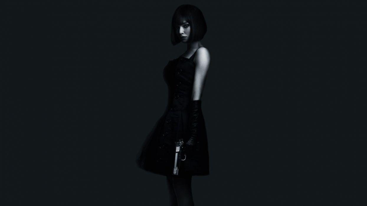 Amanda Seyfried Brunette Handgun In Time Dress Handgun movie wallpaper