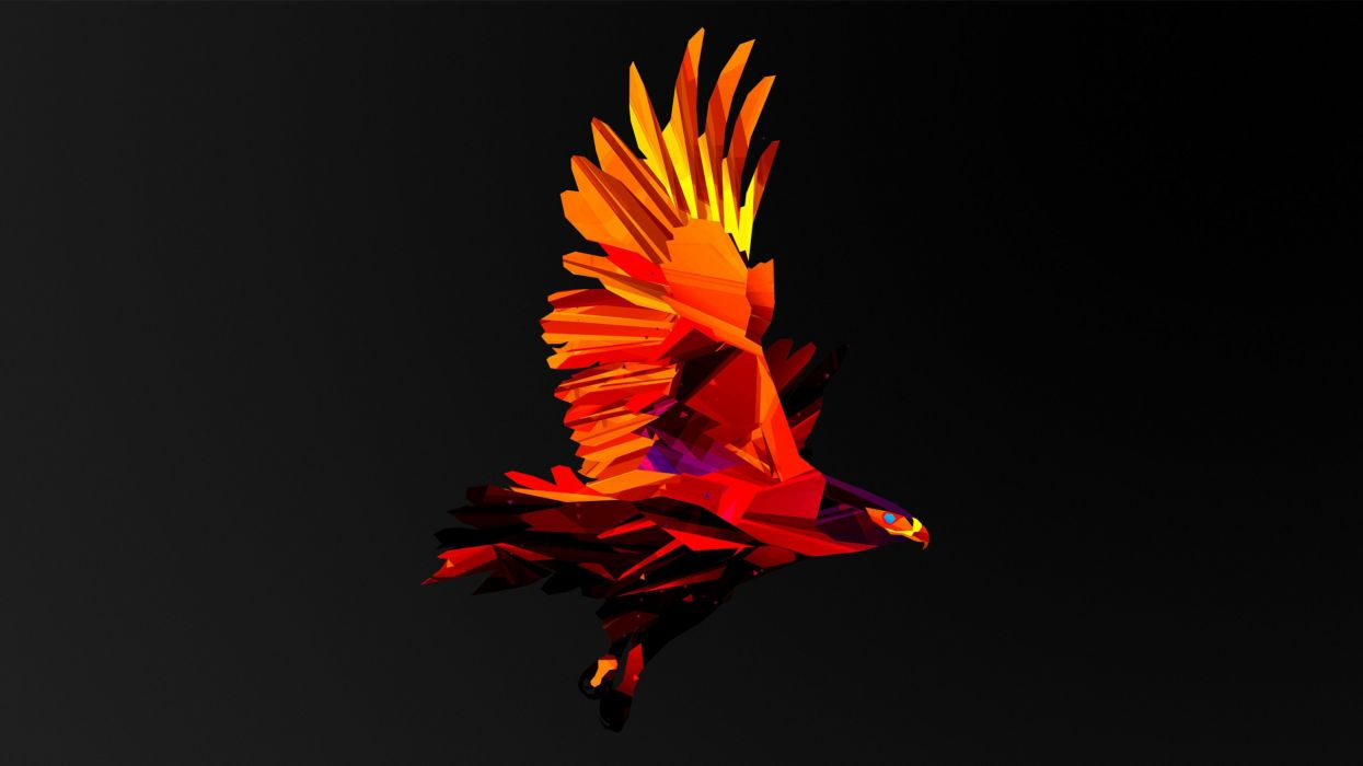 Bird Abstract psychedelic wallpaper
