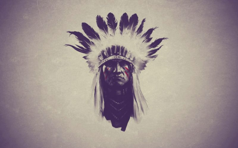 Indian Feathers native american western wallpaper