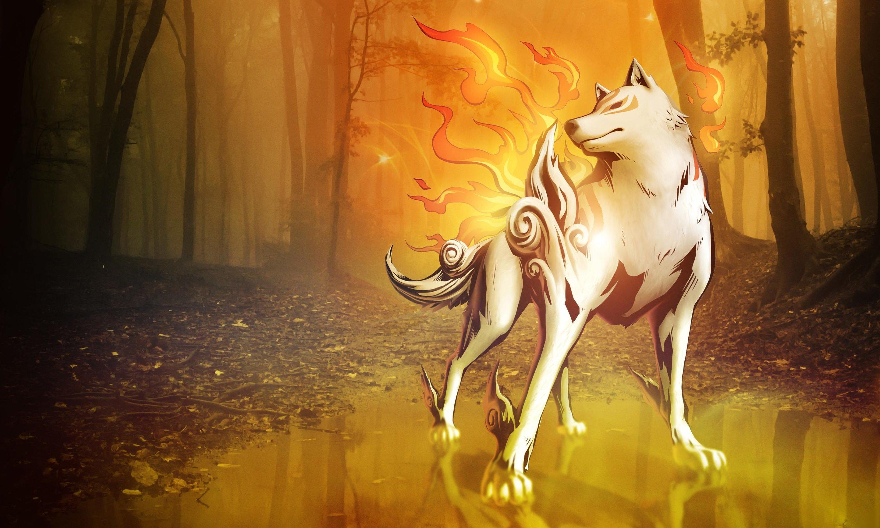 Okami Wolf wallpaper   2888x1734   248018   WallpaperUP