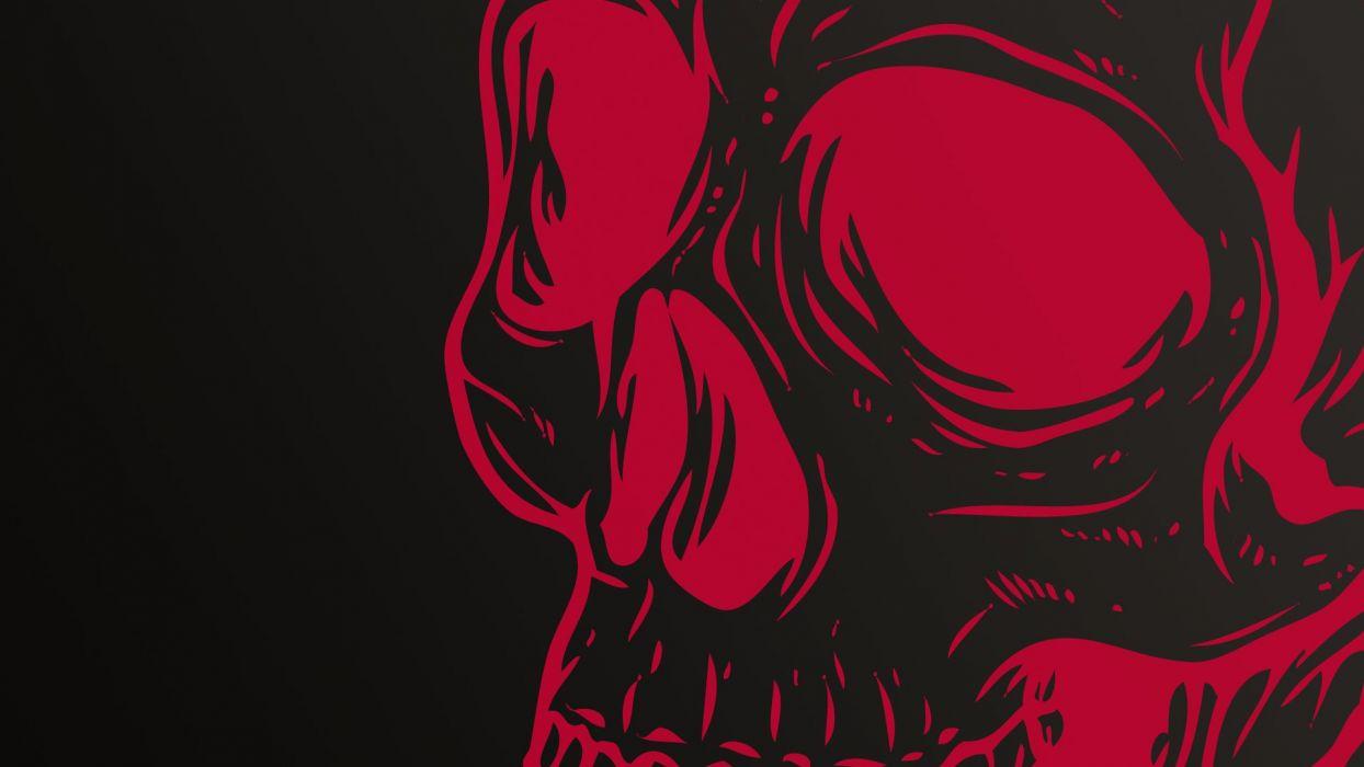 Skull Red wallpaper