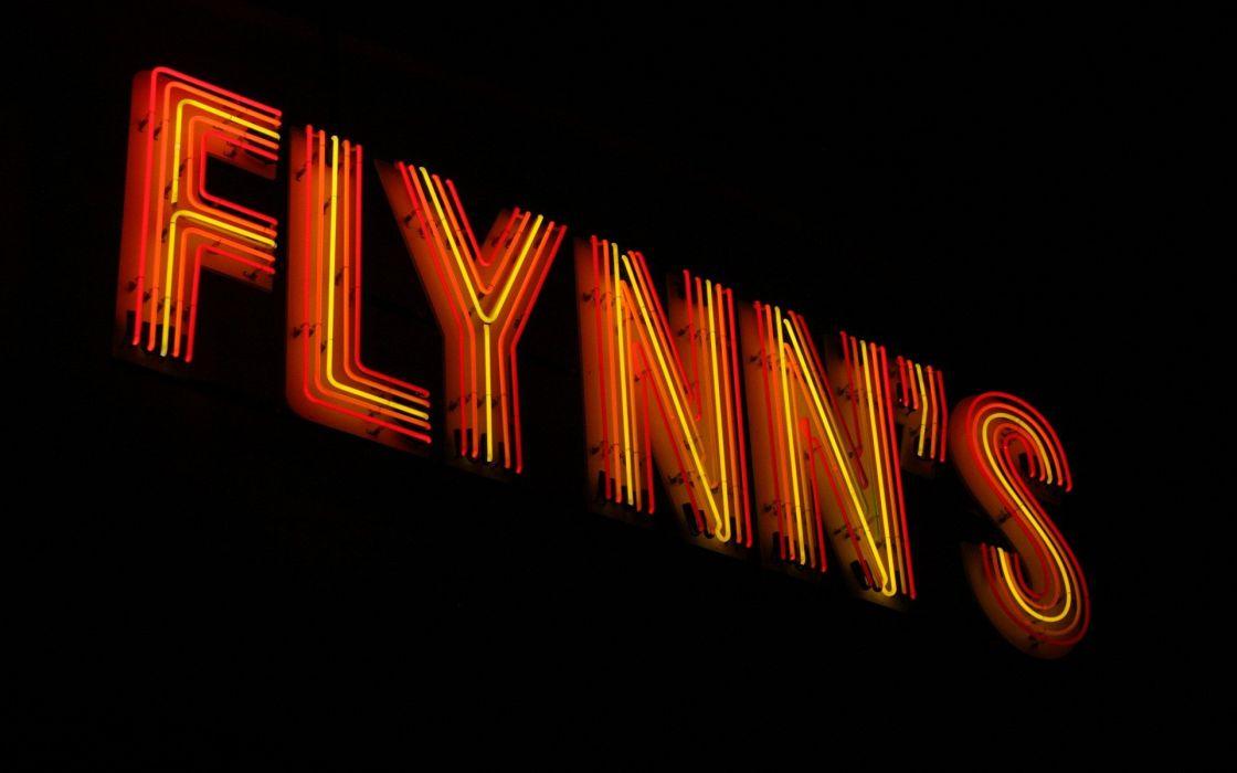 Tron Flynn's Black Neon Sign wallpaper
