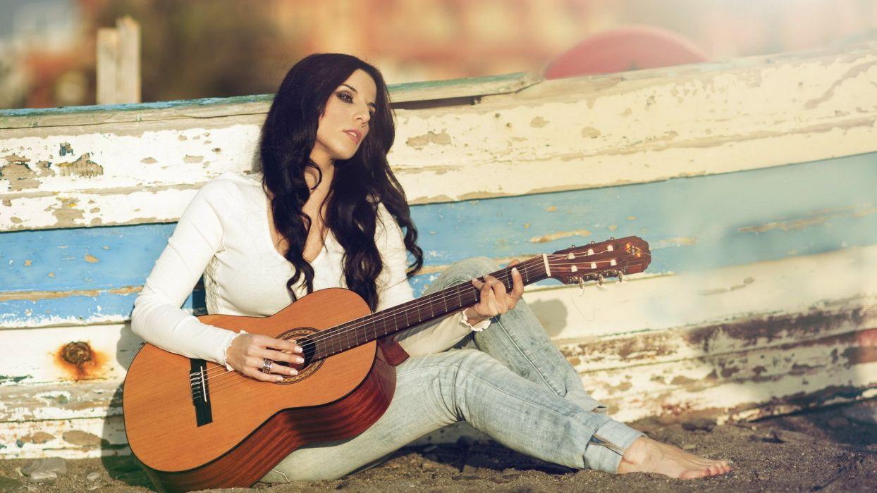 cris comino modelo singer guitar mood wallpaper