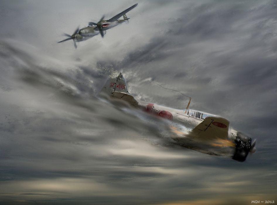 drawing war battle art planes ww2 war military wallpaper