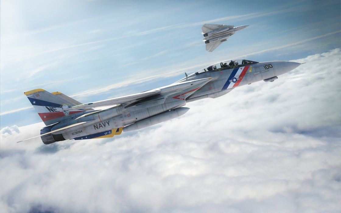 f-14 plane fighter sky tomcat military jet wallpaper