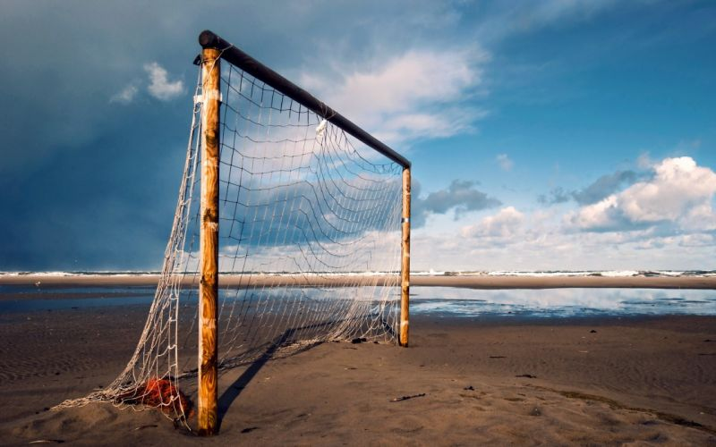 gates heaven soccer beach ocean wallpaper