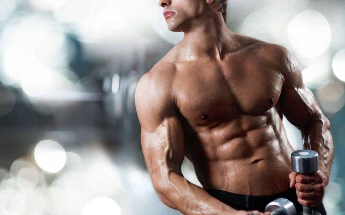 guy body torso the athlete dumbbell wallpaper