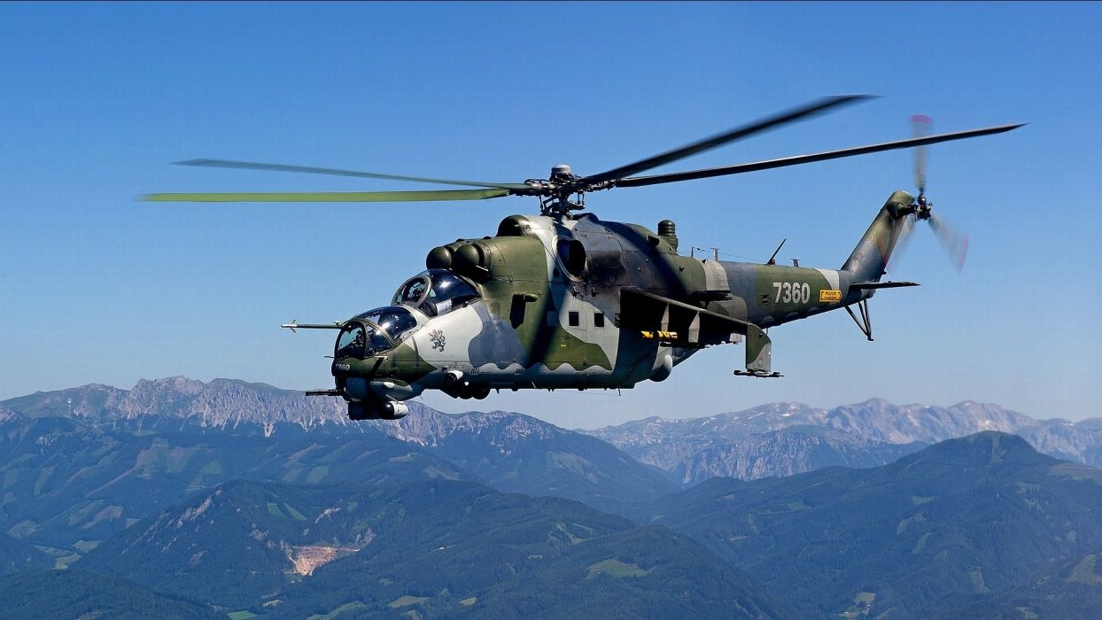 Mi-24 helicopter military jet wallpaper