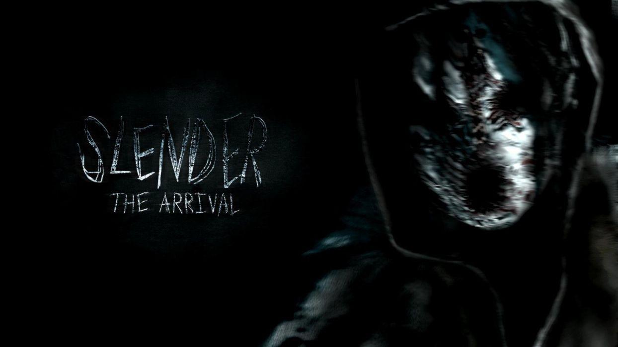 slender the arrival slender horror slenderman dark horror wallpaper