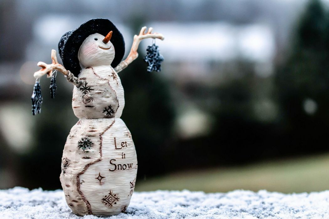 snowman new year decoration wallpaper