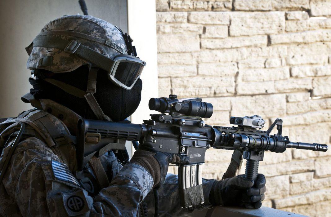 soldier military weapon gun wallpaper