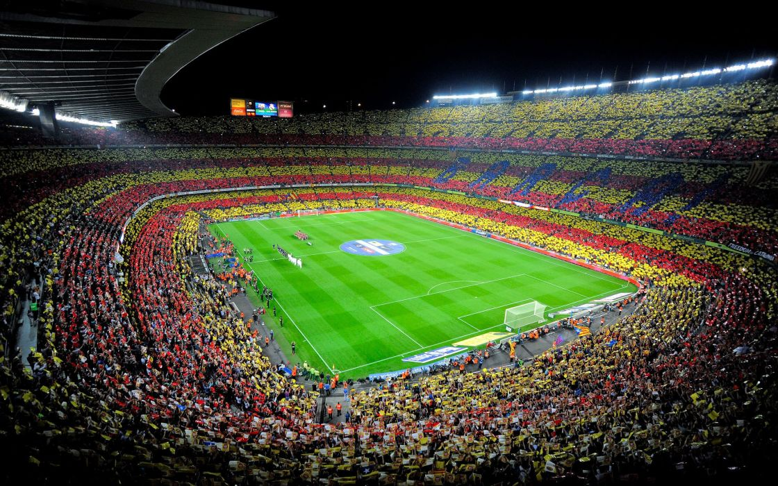 spain Camp Nou fc barcelona soccer stadium crowd wallpaper