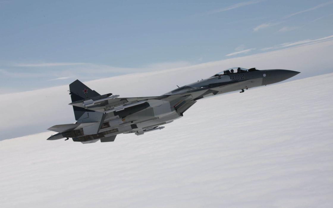 Sukhoi Su-35 jet fighter russia russian military su35 (2) wallpaper