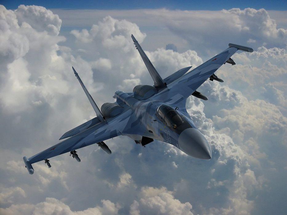 Sukhoi Su-35 jet fighter russia russian military su35 (9) wallpaper