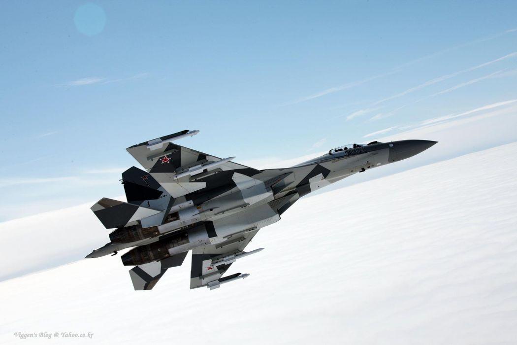 Sukhoi Su-35 jet fighter russia russian military su35 (17) wallpaper