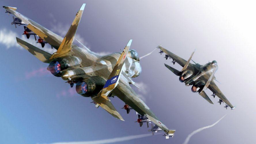 Sukhoi Su-35 jet fighter russia russian military su35 (19) wallpaper