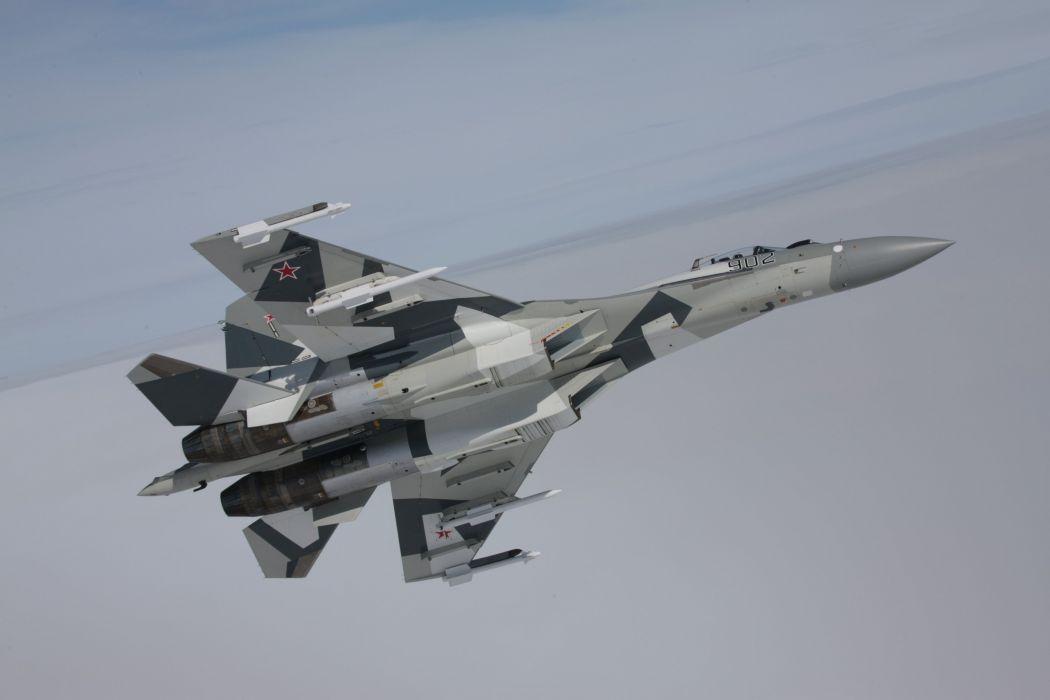 Sukhoi Su-35 jet fighter russia russian military su35 (55) wallpaper